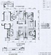 兴庆府大院3室2厅2卫133平方米户型图