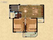 观山名筑2室1厅1卫89平方米户型图