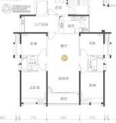 保利大都会4室2厅2卫140平方米户型图