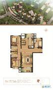 万和城3室2厅2卫126平方米户型图