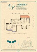 恒大香山华府3室2厅2卫111平方米户型图
