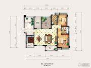 海盟・山水豪庭3室2厅2卫120平方米户型图
