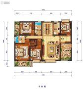 怡景尚居4室2厅2卫173平方米户型图