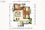 碧桂园海昌天澜3室2厅2卫105平方米户型图