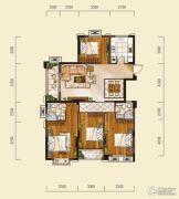 山水华庭4室2厅2卫134平方米户型图
