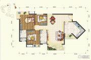 锦发君城3室2厅2卫113平方米户型图