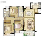 九龙仓玺园3室2厅2卫139平方米户型图