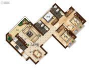 曲靖恒大绿洲3室2厅2卫110平方米户型图