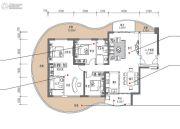 滨海・幸福里4室2厅2卫150平方米户型图