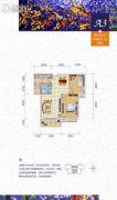 公园壹号2室2厅1卫88平方米户型图