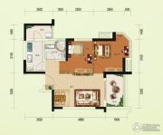 碧桂园澜江华府2室2厅1卫66平方米户型图