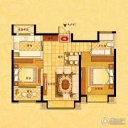 中南世纪花城2室2厅1卫87平方米户型图