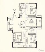 锦诚盛世3室2厅1卫130平方米户型图