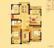 中南世纪花城3室2厅1卫126平方米户型图