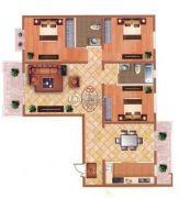 檀香湾3室2厅2卫137平方米户型图
