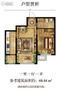 君贵・东方瑞景1室1厅1卫0平方米户型图