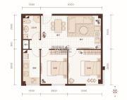 燕赵锦河湾2室1厅1卫84平方米户型图