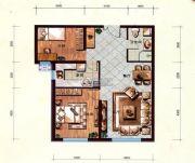 维多利大商城2室2厅1卫92平方米户型图