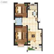 江南鸿郡2室2厅1卫113平方米户型图