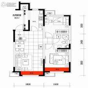 朗明居2室2厅1卫82平方米户型图