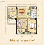 龙泉绿苑2室2厅1卫0平方米户型图