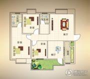 浠水十月商贸城3室2厅2卫127平方米户型图