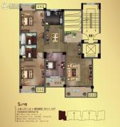 观山名筑3室2厅2卫117平方米户型图