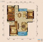半山�庭4室2厅2卫145平方米户型图