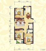 众和凤凰城3室2厅2卫124平方米户型图