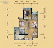 鹭洲国际二期2室2厅1卫69平方米户型图