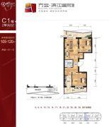 滨江国际2室1厅1卫0平方米户型图
