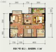 国盛园墅2室1厅2卫17平方米户型图