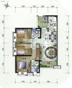 保利�W府里3室2厅2卫100平方米户型图