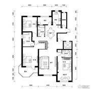 汉森香榭里3室2厅3卫189平方米户型图