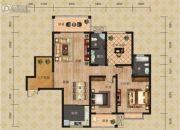 富恒・金鹏嘉苑二期2室2厅1卫121平方米户型图