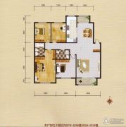 蓝远名城4室2厅2卫138平方米户型图