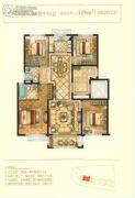 中梁・金座4室2厅2卫119平方米户型图
