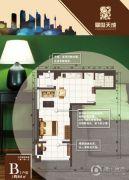 翠岛天成1室1厅1卫64平方米户型图