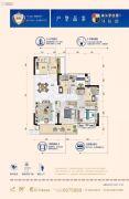曲江碧桂园3室2厅2卫108平方米户型图