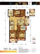 浙旅德信西宸3室2厅2卫113平方米户型图