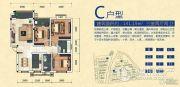 西南药都生态城3室2厅2卫0平方米户型图