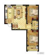 清山公爵城2室2厅1卫96平方米户型图