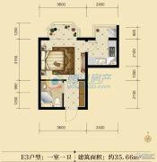联邦御景江山1室0厅1卫35平方米户型图