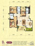 梦幻谷・�|方�A府3室2厅2卫144平方米户型图