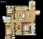 万科金域滨江4室2厅2卫144平方米户型图