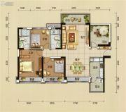 碧桂园翡翠山3室2厅2卫126平方米户型图