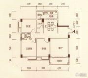 百福豪园3室2厅2卫115平方米户型图
