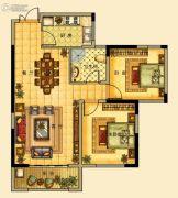 海星御和园2室2厅2卫97平方米户型图
