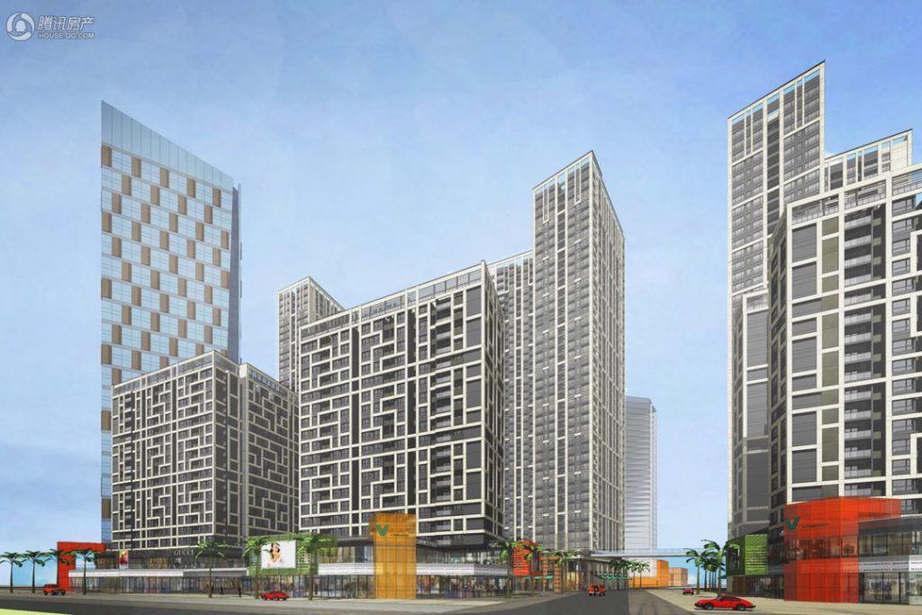 金地龙城中央沿河60㎡公寓透视效果图