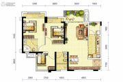 龙湖三千庭3室2厅2卫90平方米户型图